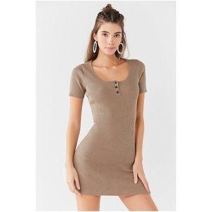 UO Lily Button Down Bodycon Mini Dress